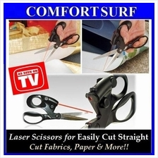 As Seen on TV Stainless Steel Blade Laser Scissors Cut Straight Guide