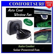 Auto Cooler Solar Powered Fan Ventilation Car Cool + FREE GIFTS