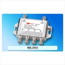 Gecen 2 in 4 out LNB Voltage Selected Multiswitch MS-2401A Free 1*F connector