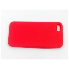 iphone 5 rubber Jelly Case Cover Casing (Red)