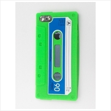 iphone 5 5S rubber Cassette Case Cover Casing (Green)