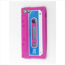 iphone 5 5S rubber Cassette Case Cover Casing (Pink)