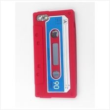 iphone 5 5S rubber Cassette Case Cover Casing (Red)