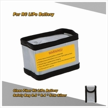 9.5 * 6.4 * 5cm Silver High Quality Glass Fiber RC LiPo Battery Safety
