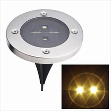 4 Pack LED Solar Powered Ground Light for Garden Pathway Stairway Warm