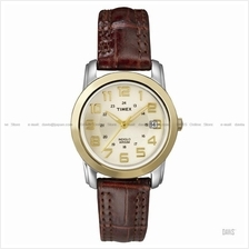 TIMEX T2N436 (W) Classic Pair leather strap champagne