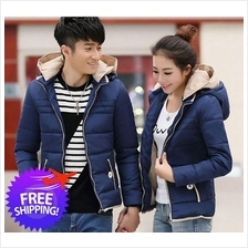 Stylish Men Women Long Sleeve Hooded Autumn Winter Couple Jacket Coat
