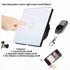 Glass Touch Screen/Remote/Smartphone Control Wireless Light Switch