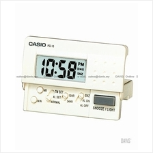 CASIO PQ-10-7 digital traveller alarm clock snooze white