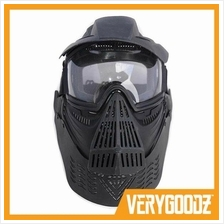 Tactical Armor Full Face Head Paintball Mask with Neck Protection