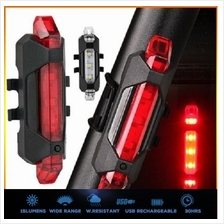 RAPID X USB Rechargeable 4-Mode 15LM LED Bicycle Light Tail Light