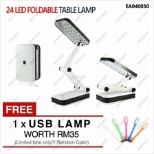 24 LED Rechargeable Adjustable Foldable Folding Table Lamp Desk Light
