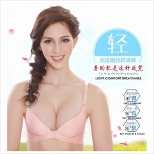 BEAU BRA No wire rim free breathable 3/4 cup push up FREE UNDERWEAR
