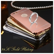 Apple IPHONE 4 4S 5 5S 6 6S PLUS MIRROR Metal Bumper Case Casing