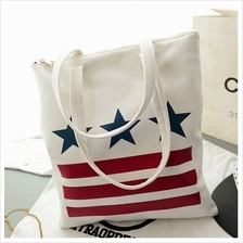 [Avenue86] Korean Fashion Star Stripes Handbag