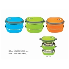 2 Layer Stainless Steel oval shape food container