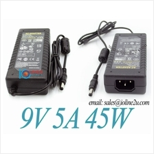 AC100-240V to 9V DC 5A 45w Switching Power supply adapter LED 5.5*2.1/2.5mm CE