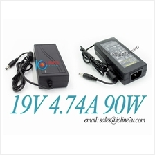 AC100-240V to 19V DC 4.74A 5A 90w Switching Power supply adapter LED 5.5*2.1/2