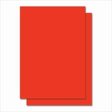 Fluorescent Color Label Sticker - A4 size - 100 sheets - Red (Item No: