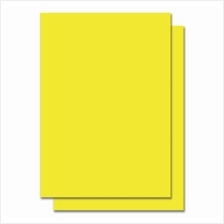 Fluorescent Color Label Sticker - A4 size - 100 sheets - Yellow (Item