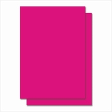 Fluorescent Color Label Sticker - A4 size - 100 sheets - Pink (Item No