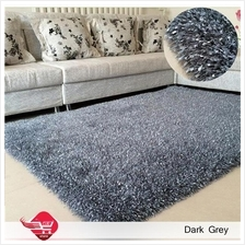 Carpet Shinning Thick for Home Bedroom 140x200cm Dark Grey