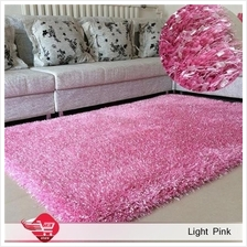 Carpet Shinning Thick for Home 140x200cm Light Pink