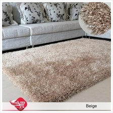 Carpet Shinning Thick for Home 140x200cm Beige
