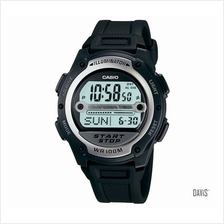 CASIO W-756-1AV STANDARD Digital multi-timer resin strap watch black
