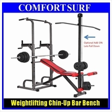 All in 1 GYM Weightlifting Bench Chin-Up Pull up Bar Sit up Chair