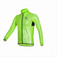 CYCLE2U 100% Waterproof RainCoat for Cycling - Fluorescence Green