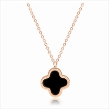 YOUNIQ Blossom 14K Rosegold Plated Titanium Necklace Two-sided Color