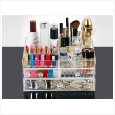 Luxe Acrylic Storage Box Makeup Organizer Stacking & Drawers  Display