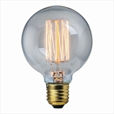 Edison 40W G95 Vintage Incandescent Light Bulb Retro Style