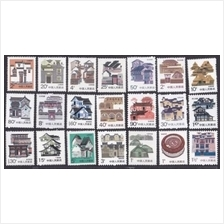 CHINA 1986-1991 R23 Houses Definitive stamps 21v MNH