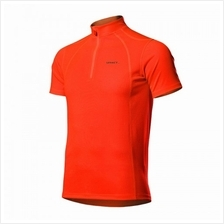 Spakct Fluorescent Red Short Sleeve Cycling Jersey