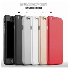 APPLE IPHONE 5 5S SE 6 6S PLUS 360 FULL Protection Tempered Glass Case
