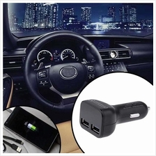 3.1A 4 In 1 Dual USB Car Charger Adapter & Batteries Voltage Tester