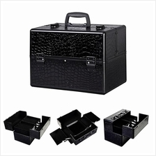 "Pro 14""*9""*10"" Aluminum Makeup Train Case Jewelry Box Cosmetic Organiz"