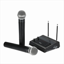 MS-205 VHF Wireless Microphone System with FM Transmitter Receiver 2