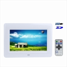 7 inch TFT LCD Digital Photo Frame with Remote Control, Support USB /