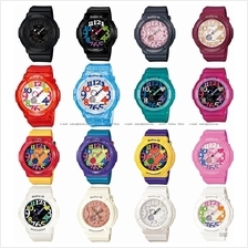 CASIO BGA-131 Baby-G ana-digi neon illuminator colourful resin strap
