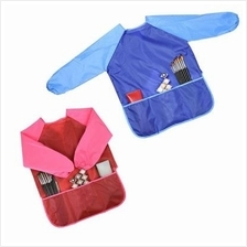 2 Pieces Long Sleeve Children's Art Smock Waterproof Painting Apron