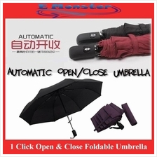 Korea Style One Click to Open & Close Automatic Auto Foldable Umbrella