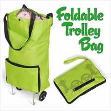 Foldable Shopping Trolley Bag Cart Wheel Carrying Bag Pouch