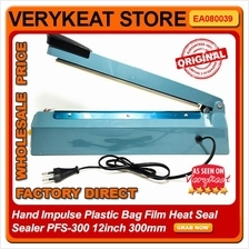 Hand Impulse Plastic Bag Film Heat Seal Sealer PFS-300 12inch 300mm