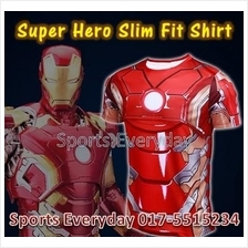 Super Hero Slim Body Fit Compression Shirt baju - Iron Man 6