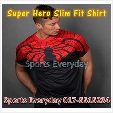 Super Hero Slim Body Fit Compression Shirt baju - Spiderman 5