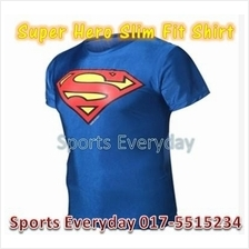 Super Hero Slim Body Fit Compression Shirt baju - Super Man 2