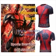 Super Hero Slim Fit Compression Shirt baju - Super Man 7 Long Sleeve